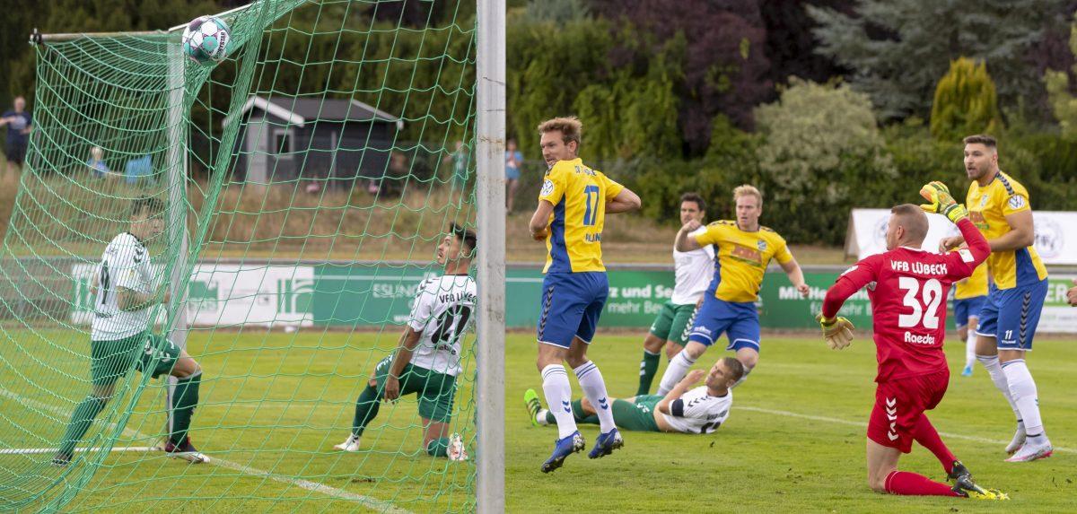 Drei Standard-Gegentore kosten Lübeck DFB-Pokal-Teilnahme