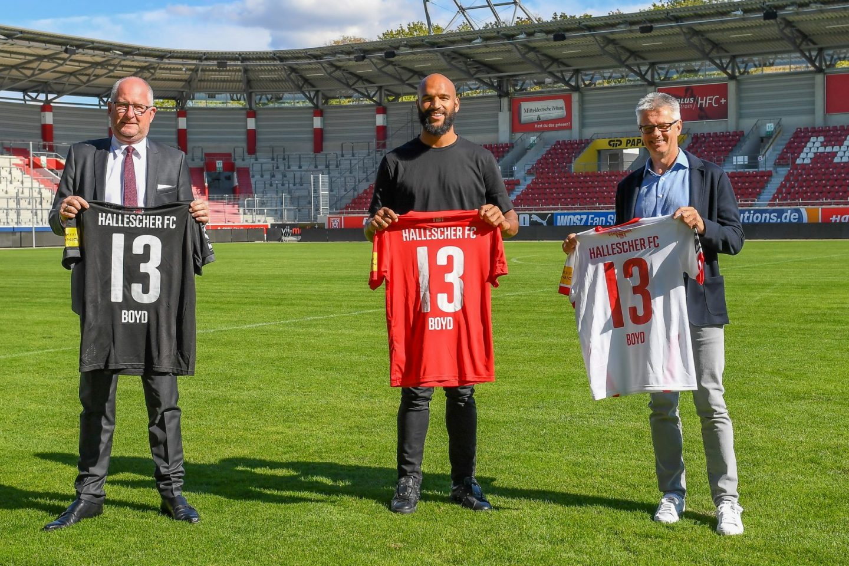 Der Hallesche FC hat den Vertrag mit Stürmer Terrence Boyd verlängert