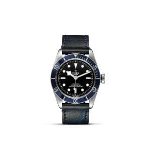 Black Bay (Blue Bezel) – Leather Bracelet