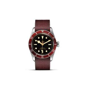 Black Bay (Red Bezel) – Fabric Strap