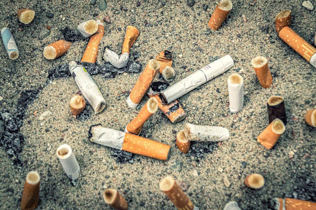 efterlad ikke cigaretskodder