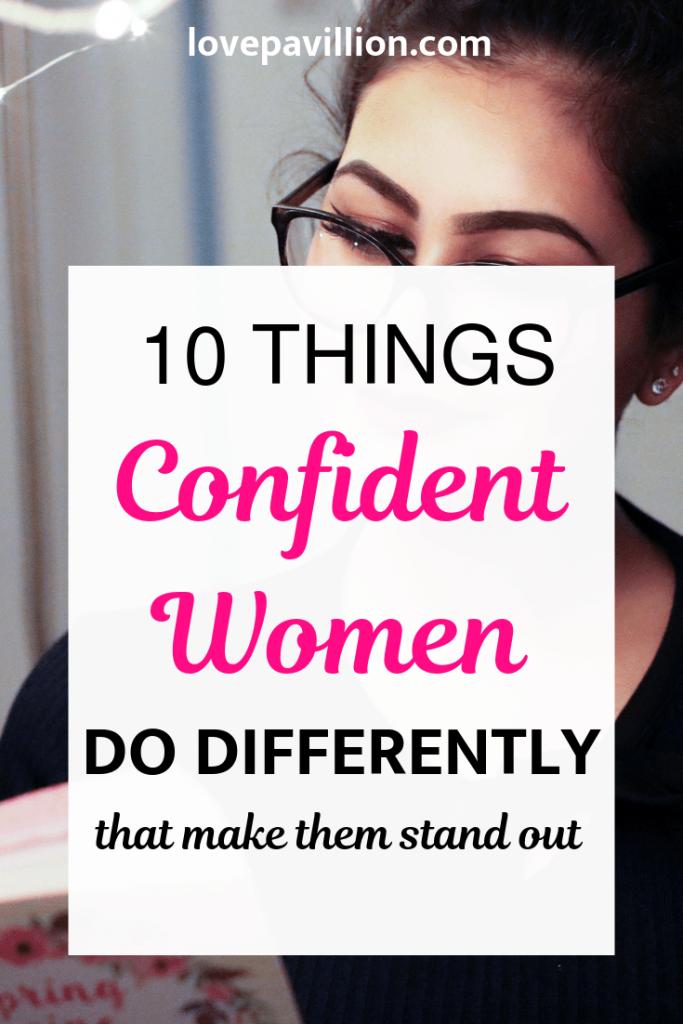 habits of confident women