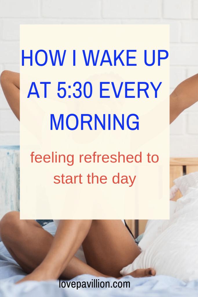 wake up 5 a.m