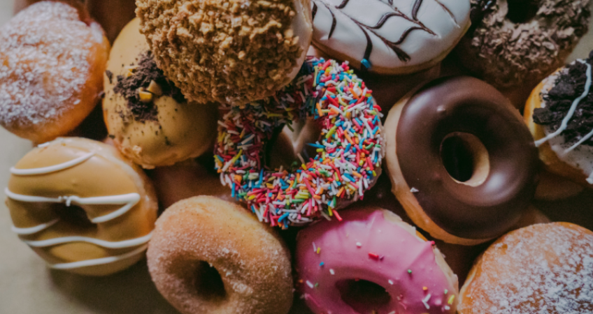 Plate of different Donuts