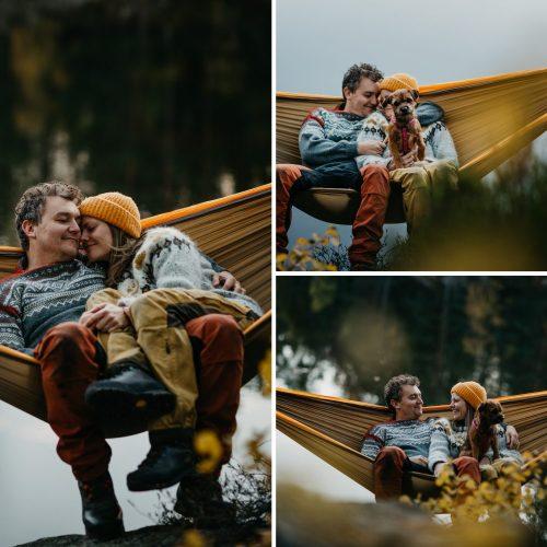 Maiken+KimRoar - skogstur, bål, campfire, engaged, engagement session, norwegian shoot, hengekøye, hammock, kjærestefotografering, forlovet - 24