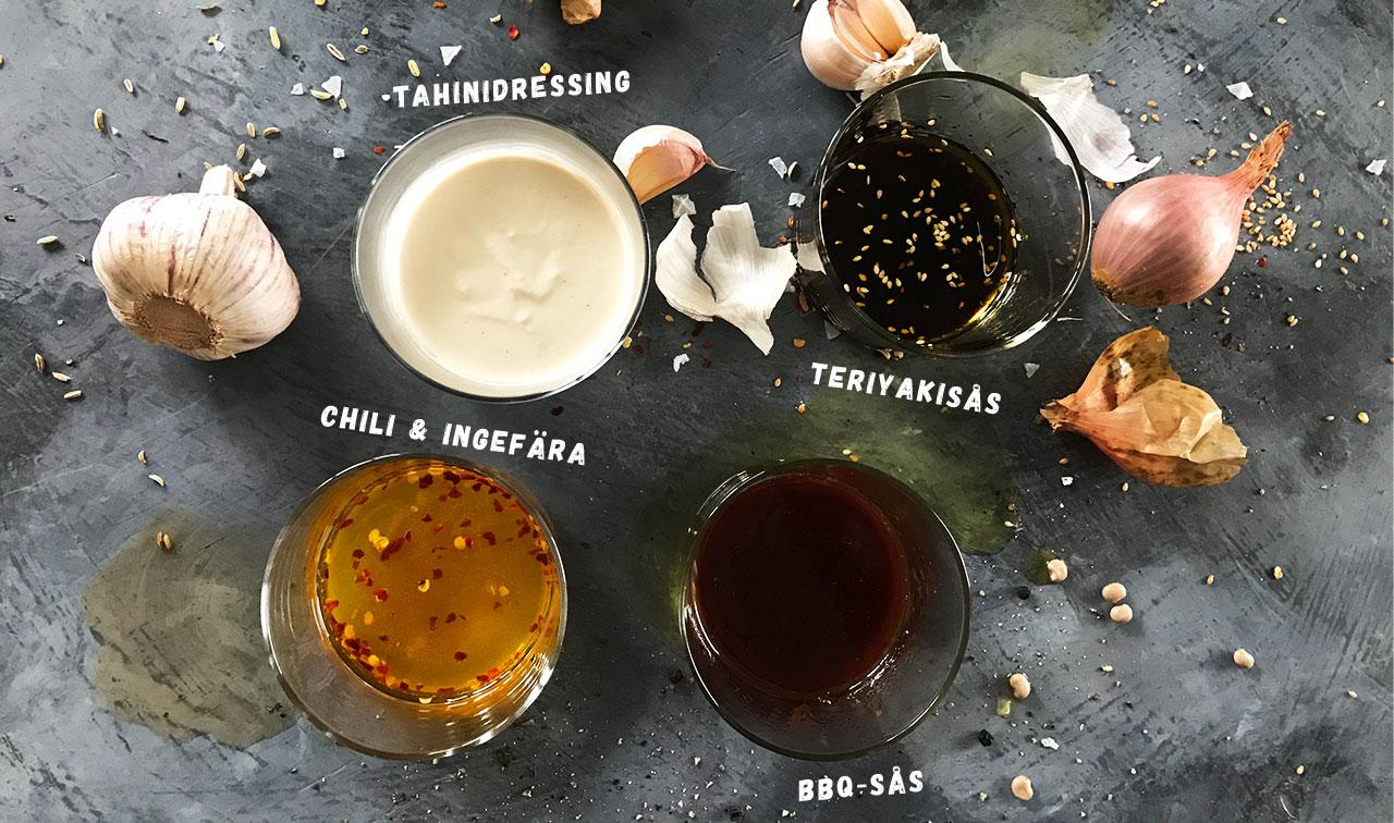 4 goda såser och marinader för tempeh