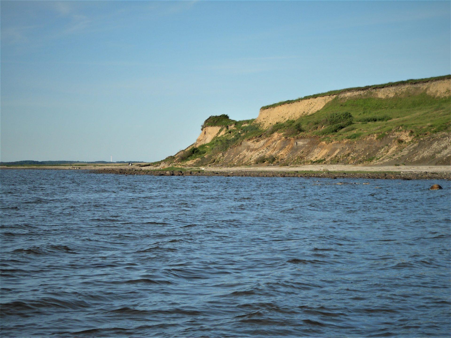 Ejsingholm Strand ved Limfjorden er en fiskeplads til fangst af havørreder og hornfisk