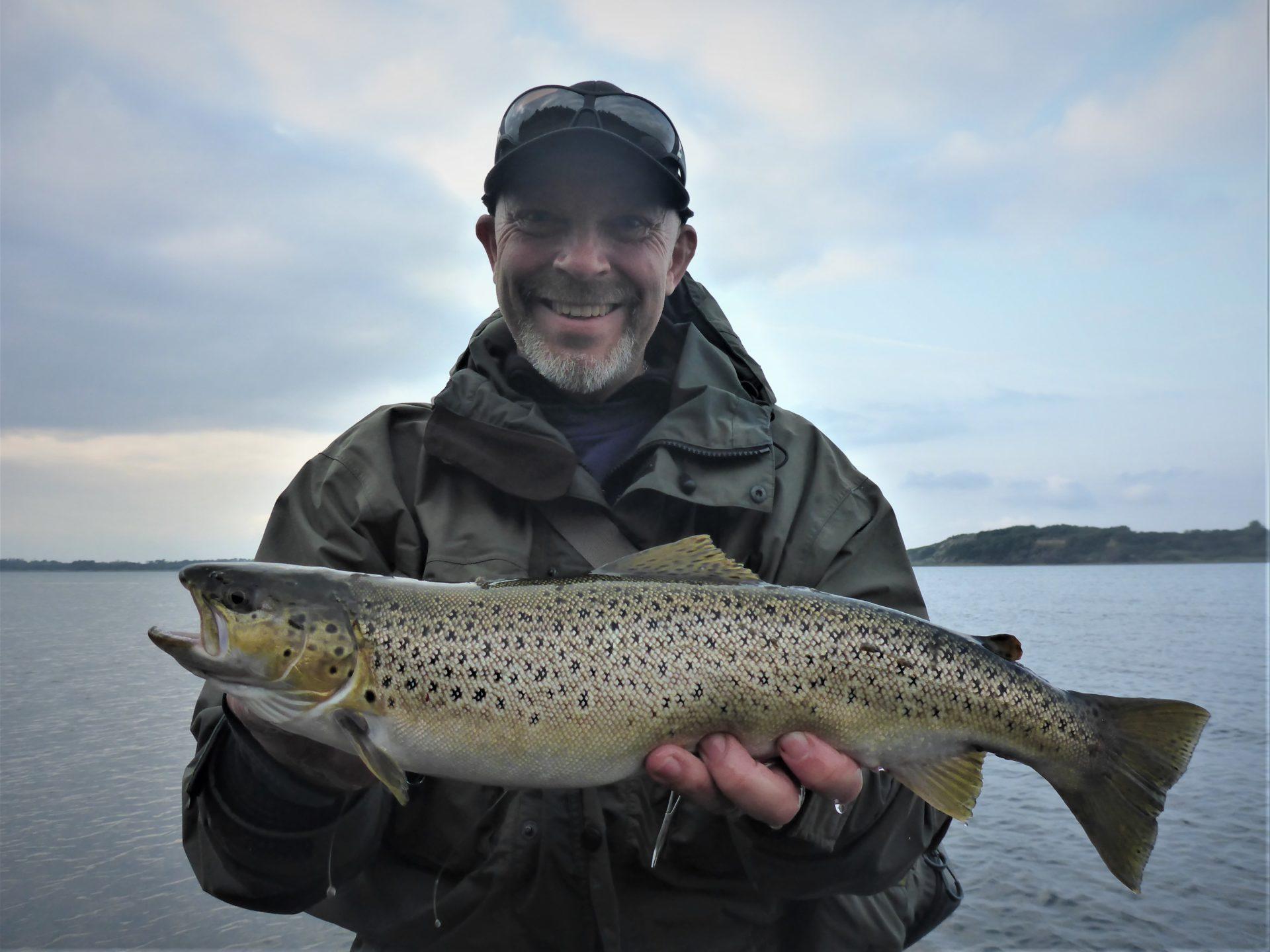 Man kan fange havørreder i Harre Vig i Limfjorden.