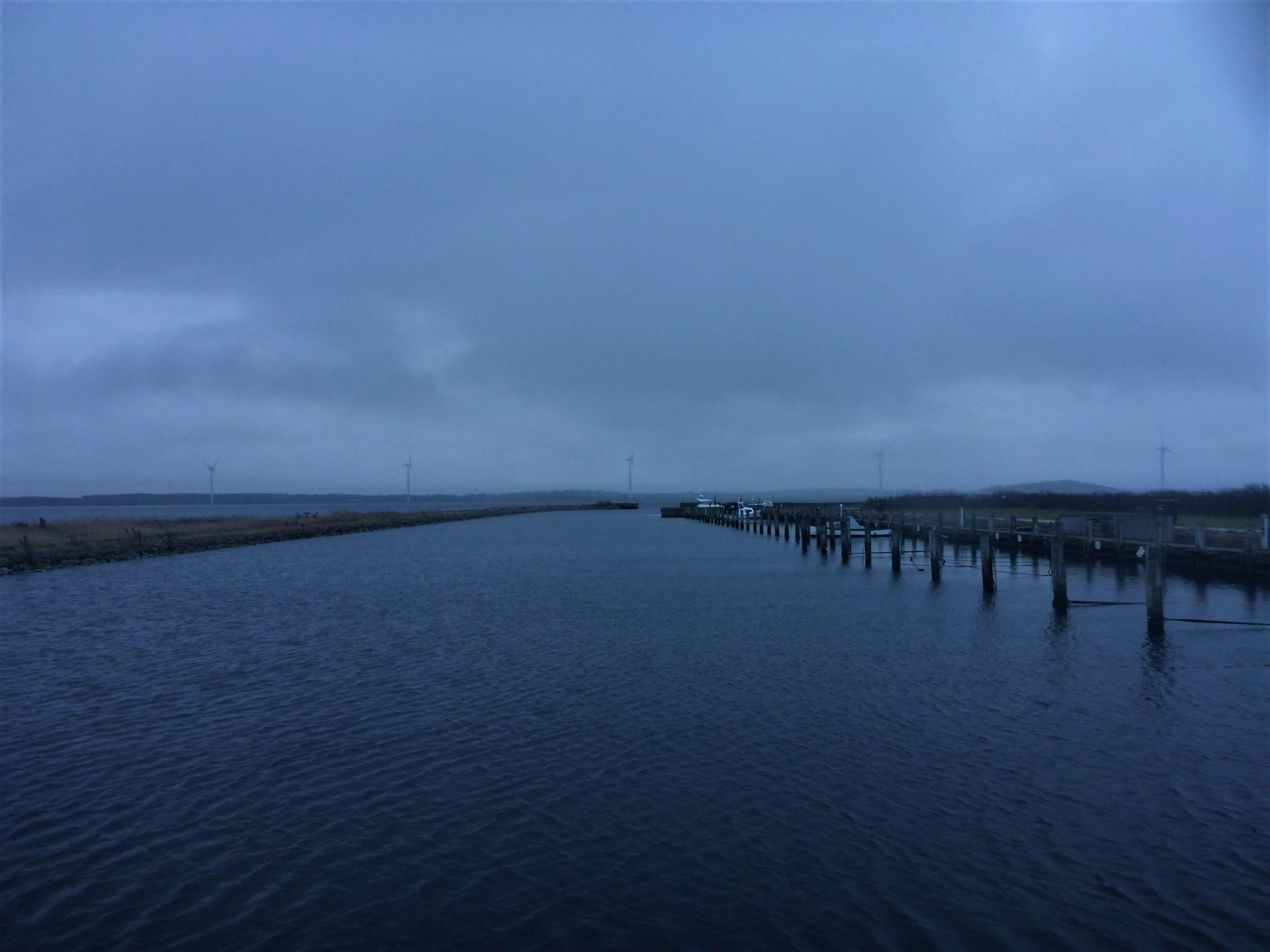 Haverslev Havn er et godt sted til fangst af havørred og multe i Limfjorden.