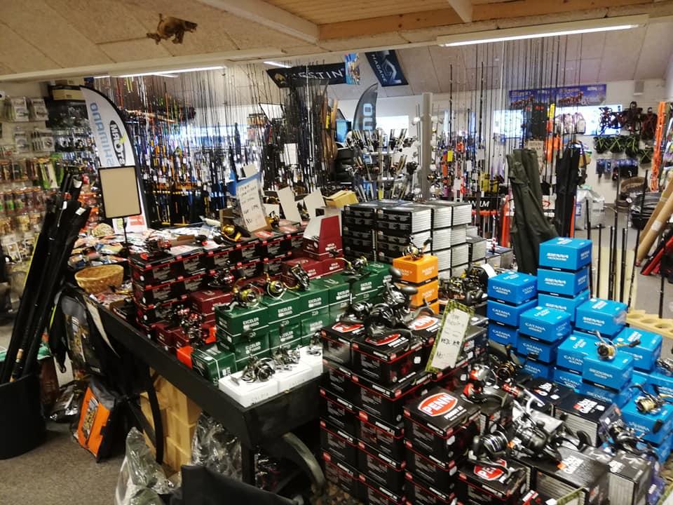 Kragh´s jagt og fiskeriartikler har et kæmpe udvalg af fiskegrej til lystfiskeri i Limfjorden.