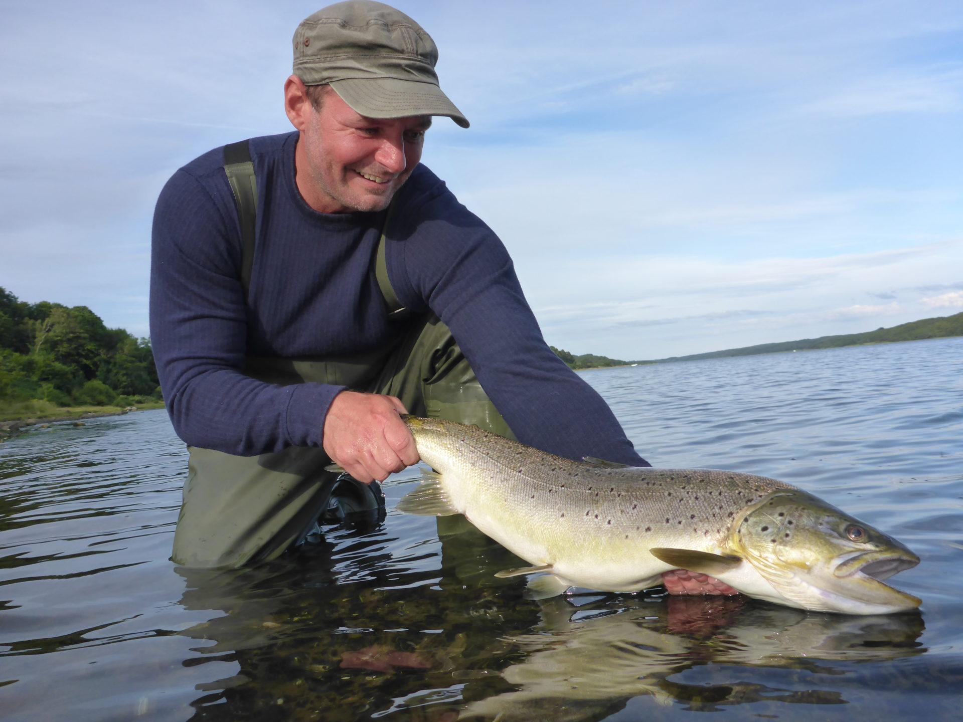 Mariager Fjord er en af Danmarks bedste til fangst af havørred.