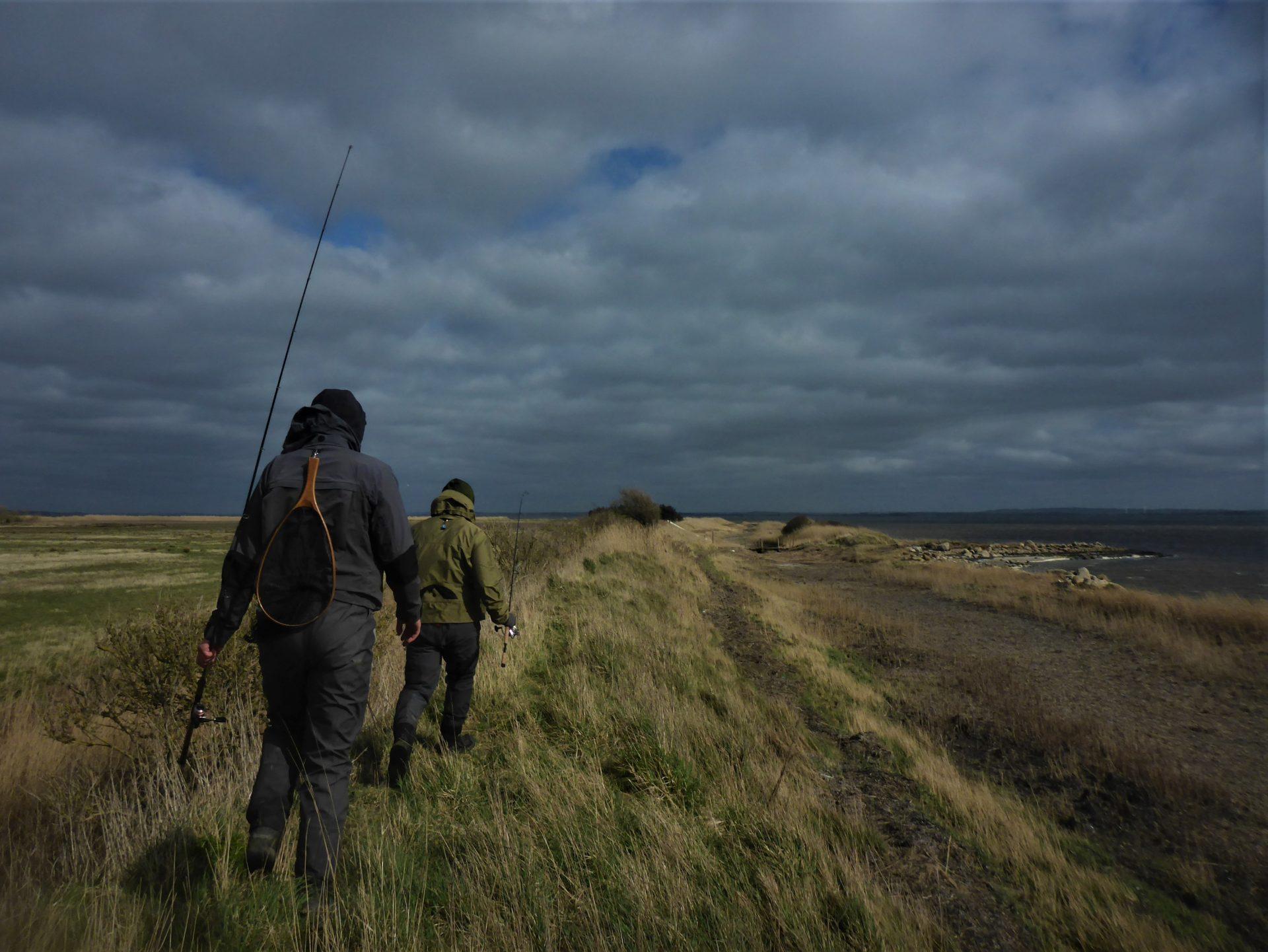 Tøtterne er en nem fiskeplads at kommer til ved Limfjorden