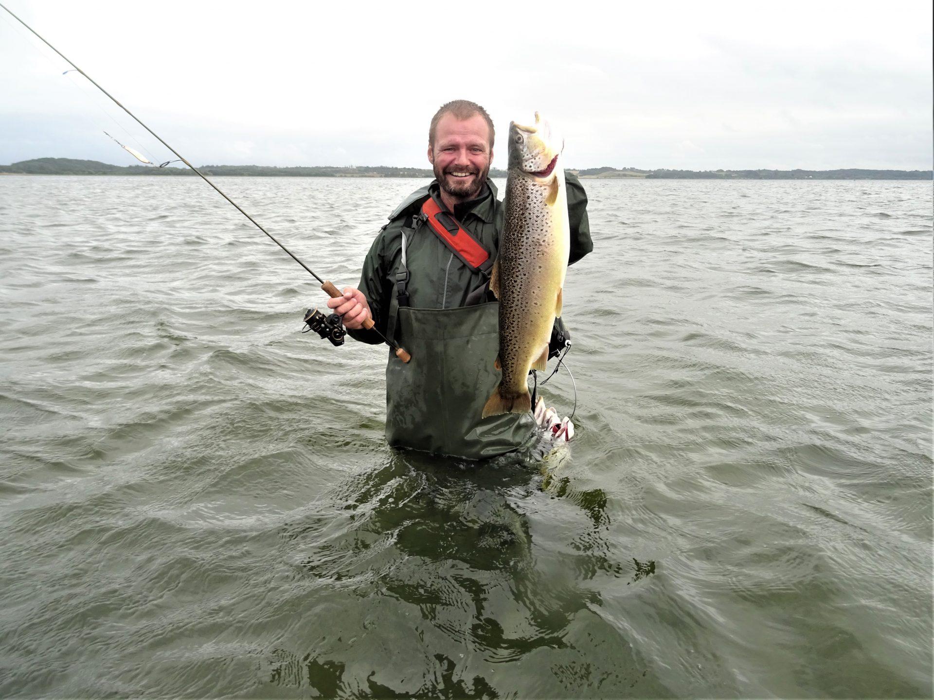I Randers Fjord kan man opleve spændende og fangstgivende lystfiskeri.