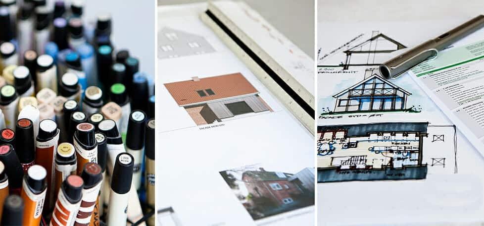 Skitsefasen: Få lavet et Skitseprojekt hos m4 Arkitekter