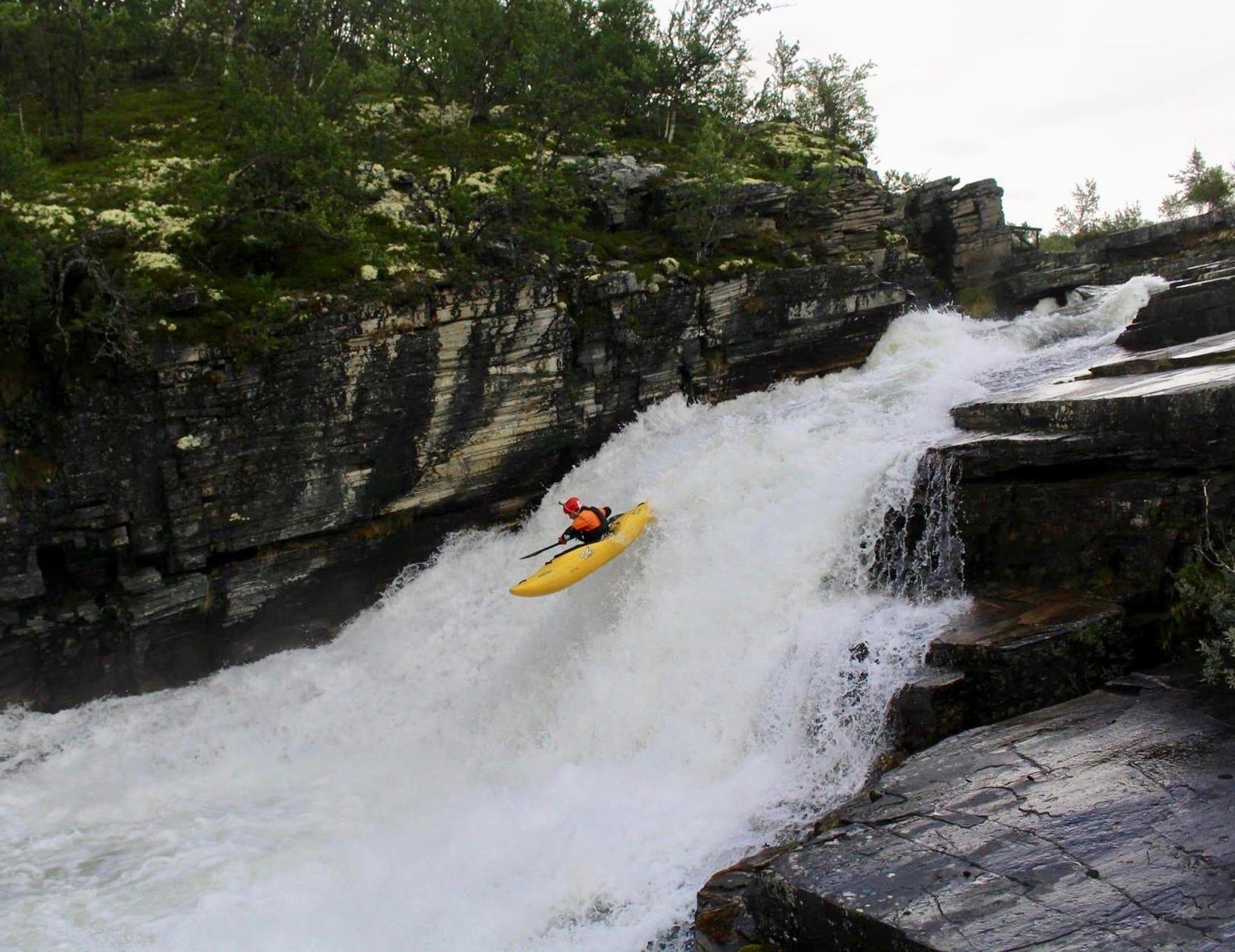 Kayaking on Ula River - Drop after slides