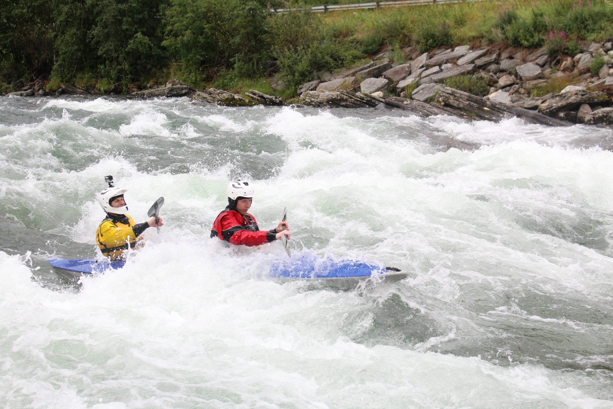 Tandem Kayaking on Sjoa Normal