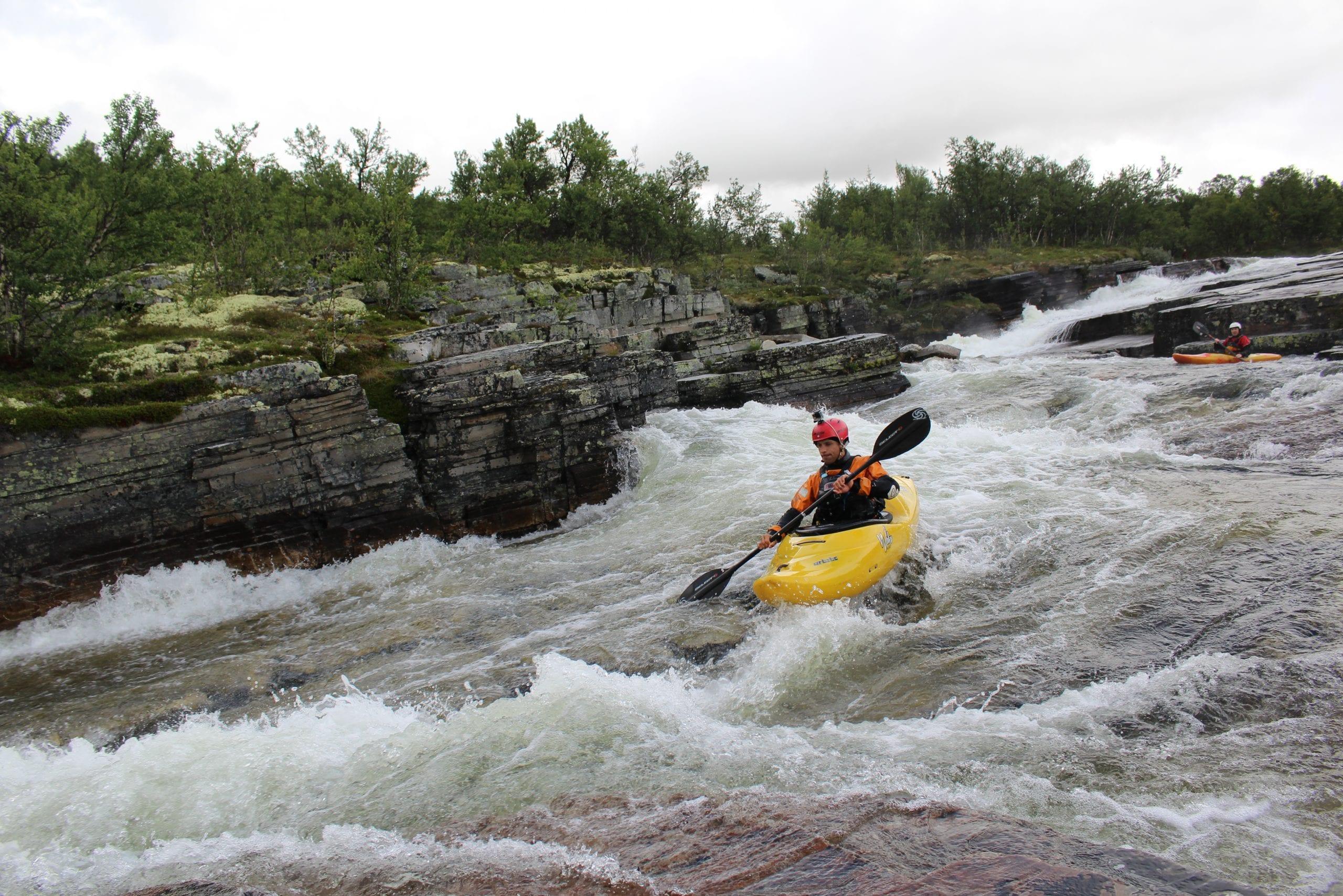 Kayaking on Ula River - main slide section
