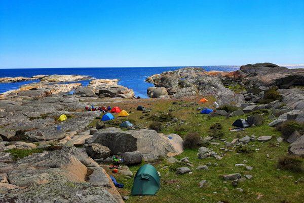 camping og kajakkpadling