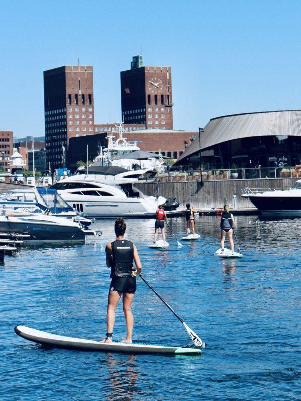 stå opp padling i Aker Brygge