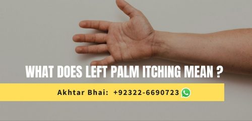 what does left palm itching mean?