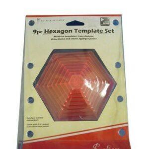 Magomar Patch Conjunto de plantillas hexagonales de 9 piezas