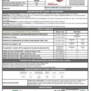 Magomar Patch Tela Algodón HeiQ Viroblock 100% algodón Viroblock