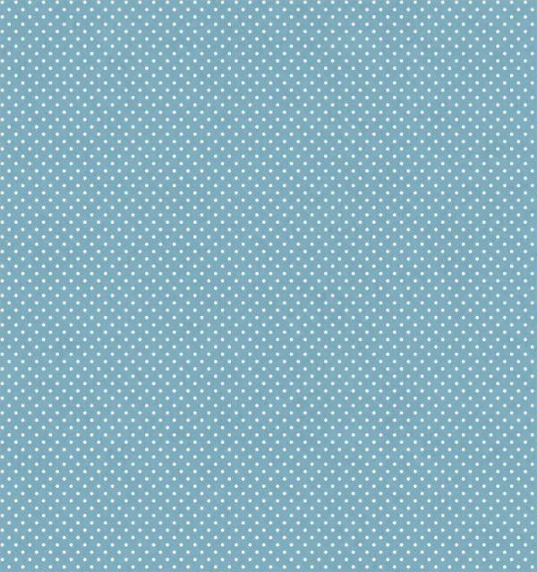 Telas Magomar Patch Básica colección Dotty - motivo topitos sobre azul empolvado Ref. MP62792