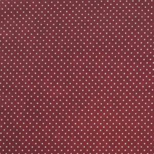 Telas Magomar Patch Básica - motivo topitos blancos sobre burdeos - Ref. MP15548,16