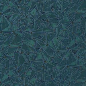 Telas Magomar Patch Estampada -colección Moonlight - motivos triangulos y estrellas - Tiene hilitas metálicas negras - tono azul eléctrico - Robert Kaufman Ref.MP20065-213