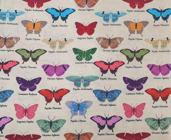 Telas Magomar Patch Estampada - Colección My Flutter por Stoffabrics - motivo mariposas y nombre - 100% Algodón - Ref. MP4501-424 (2)