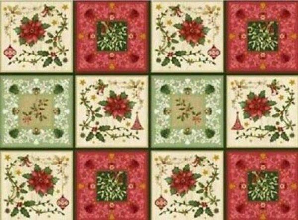Telas Magomar Patch Panel The Giving Quilt de Jennifer Chiaverini - RED Rooster Fabrics - medodas 61x110cm 28 cuadros de 14x14cm Ref. MP23287 9,50EU