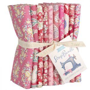 Telas Magomar Patch Tilda -Scrap Bundle Fat Quarte x 10 ( 50x55cm ) coordinados Tilda rosas - Tilda Fabrics 100% Algodón Ref. MP300125