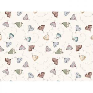 Telas Magomar Patch - colección Un Día de Picnic - motivo Mariposas - fondo beige y colores empolvados - El Altillo de los Duendes - las telas de NEVY 100% Algodón -Ref. MP87562104 (2)