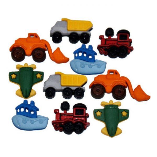 Magomar Patch Botones Decorativos IDEAS - Maquinas de transporte Things That Go Ref MP8160