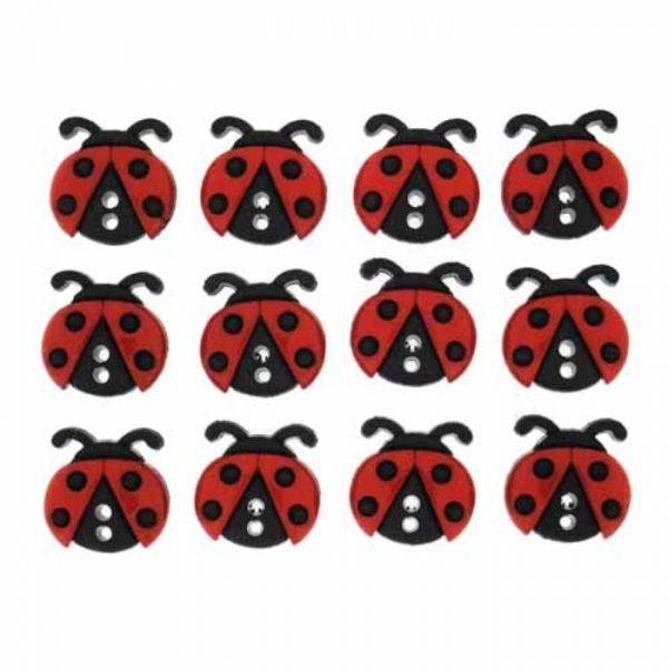 Magomar Patch Botones Decorativos IDEAS - 8 Mariquititas Sew Cute Ladybugs Ref MP8239