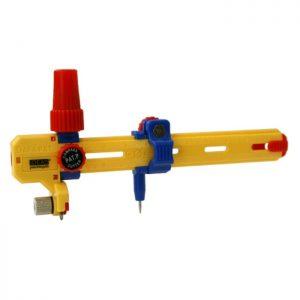 Magomar Patch Compás Cortador Rotativo de 3cm a 50,2cm - Cutter Compás rotativo para cortar círculos de 3cm a 24cm y hasta 50.2cm con el mango extensible