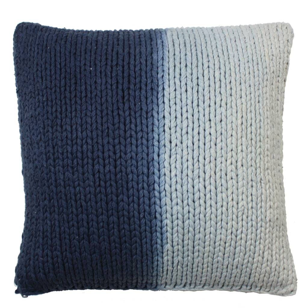 hk-living-cushion-blue-cream-knitted-cotton-50x50c