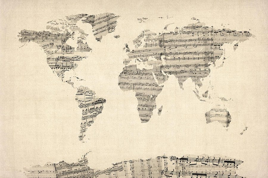 map-of-the-world-map-from-old-sheet-music-michael-tompsett