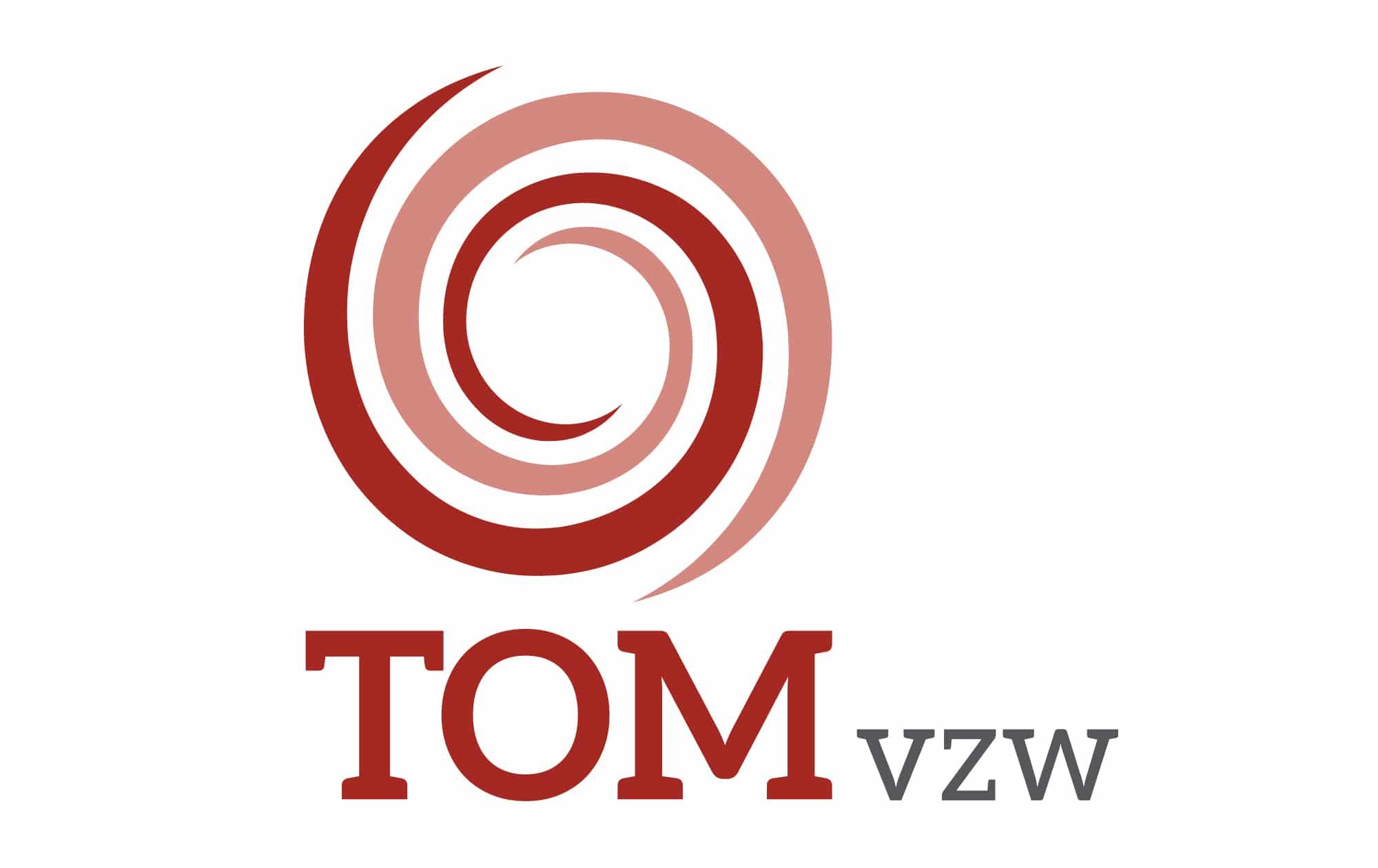 mandarijn maakt voor Tom vzw een nieuw logo.