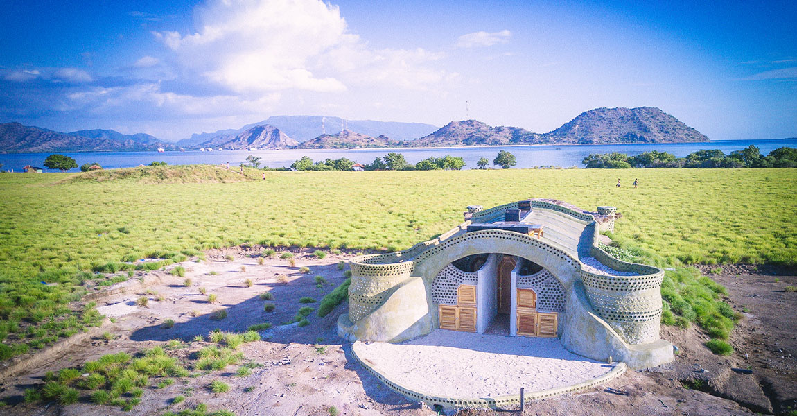 1st Earthship in Indonesia