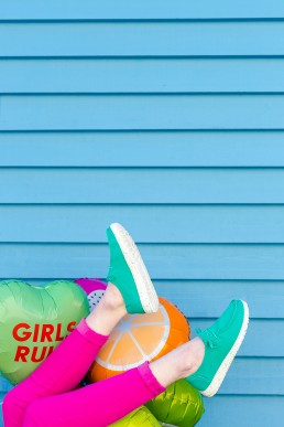 Colourful content creation for Hey Dude Shoes. Product photography & styling by Marianne Taylor.