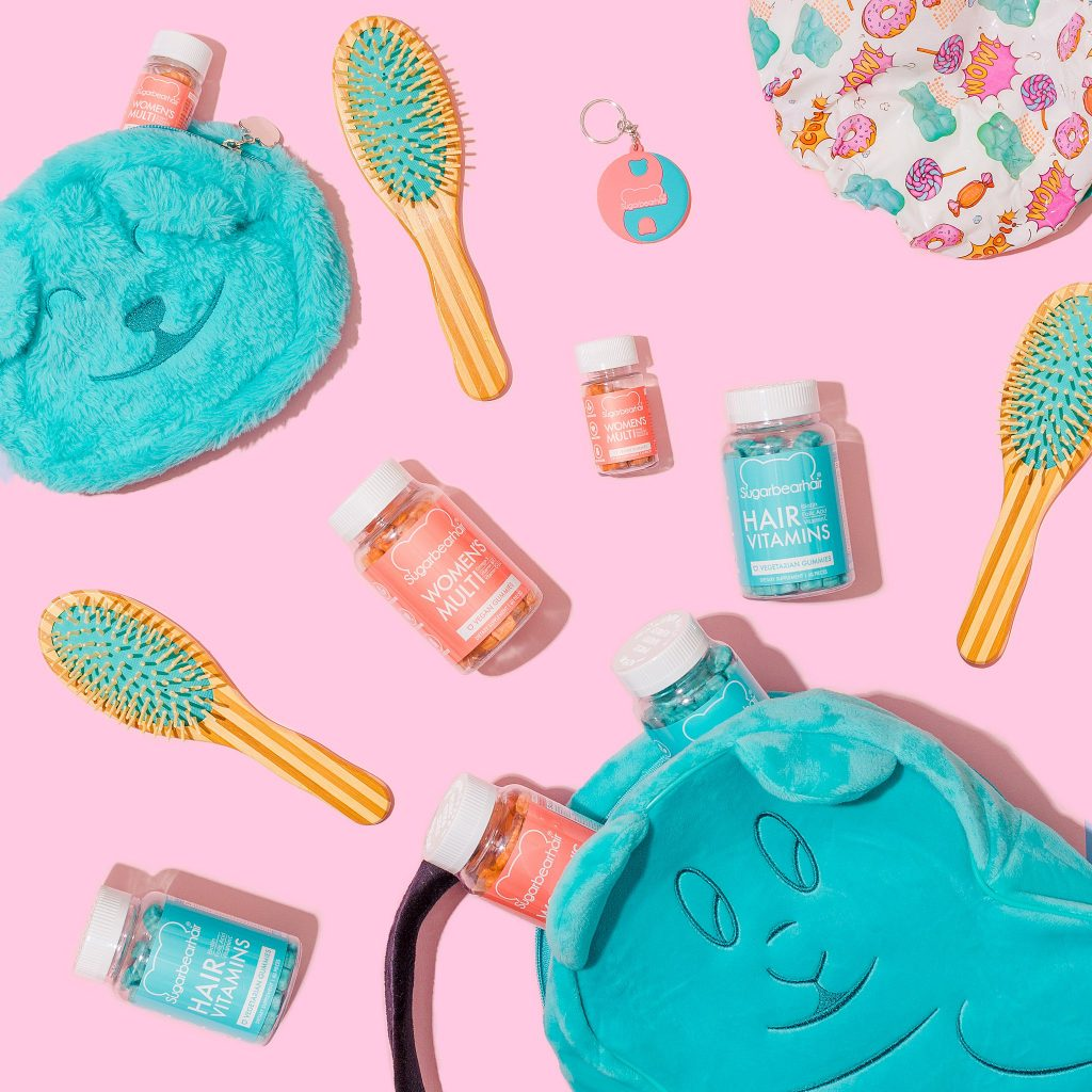 Colourful content creation for SugarBearHair. Product photography & styling by Marianne Taylor.