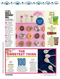 Doghnut wall in Good Housekeeping SA.