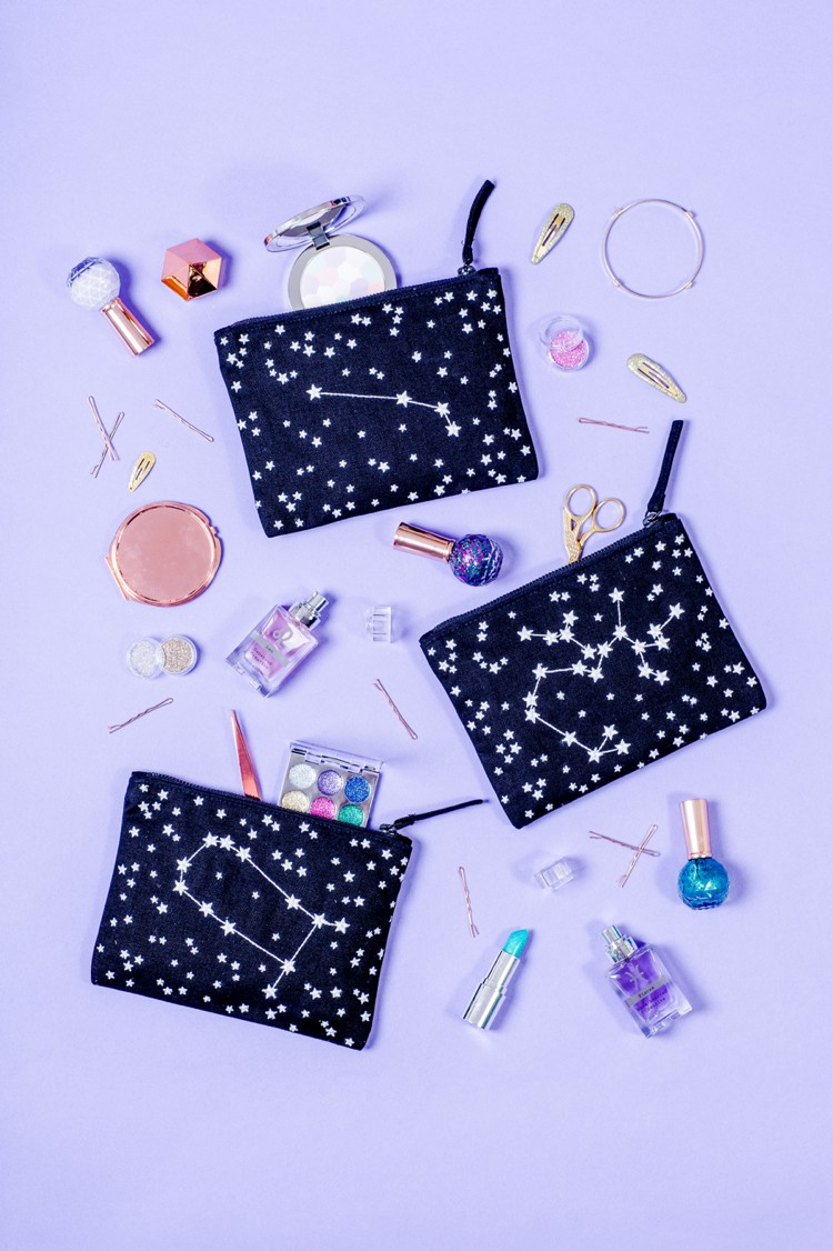 Alphabet Bags Zodiac pouches photographed by Marianne Taylor.