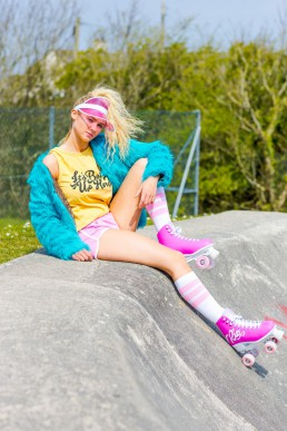 Colourful skate lifestyle photography and styling by Marianne Taylor.