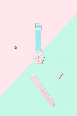 Colourful product photography and styling for SwatchX by Marianne Taylor.