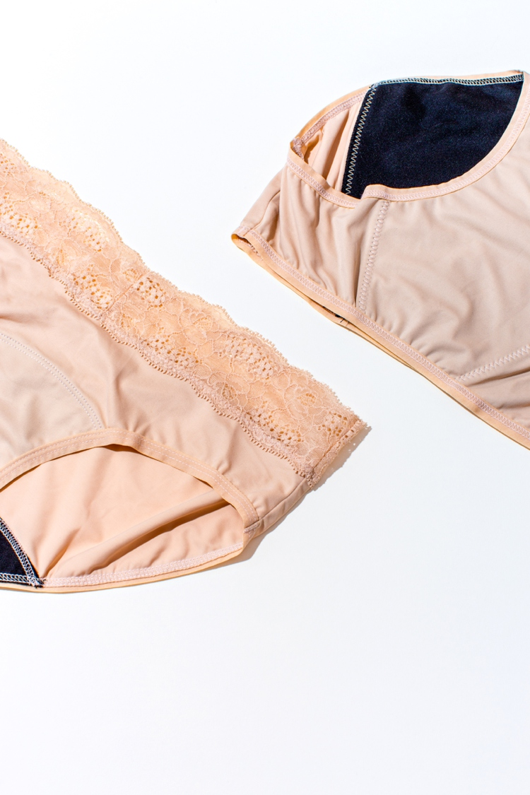 Hi-tech lingerie product photography and styling by Marianne Taylor.
