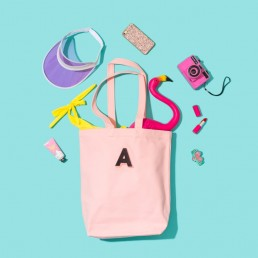 Colourful content creation for Alphabet Bags. Product photography & styling by Marianne Taylor.