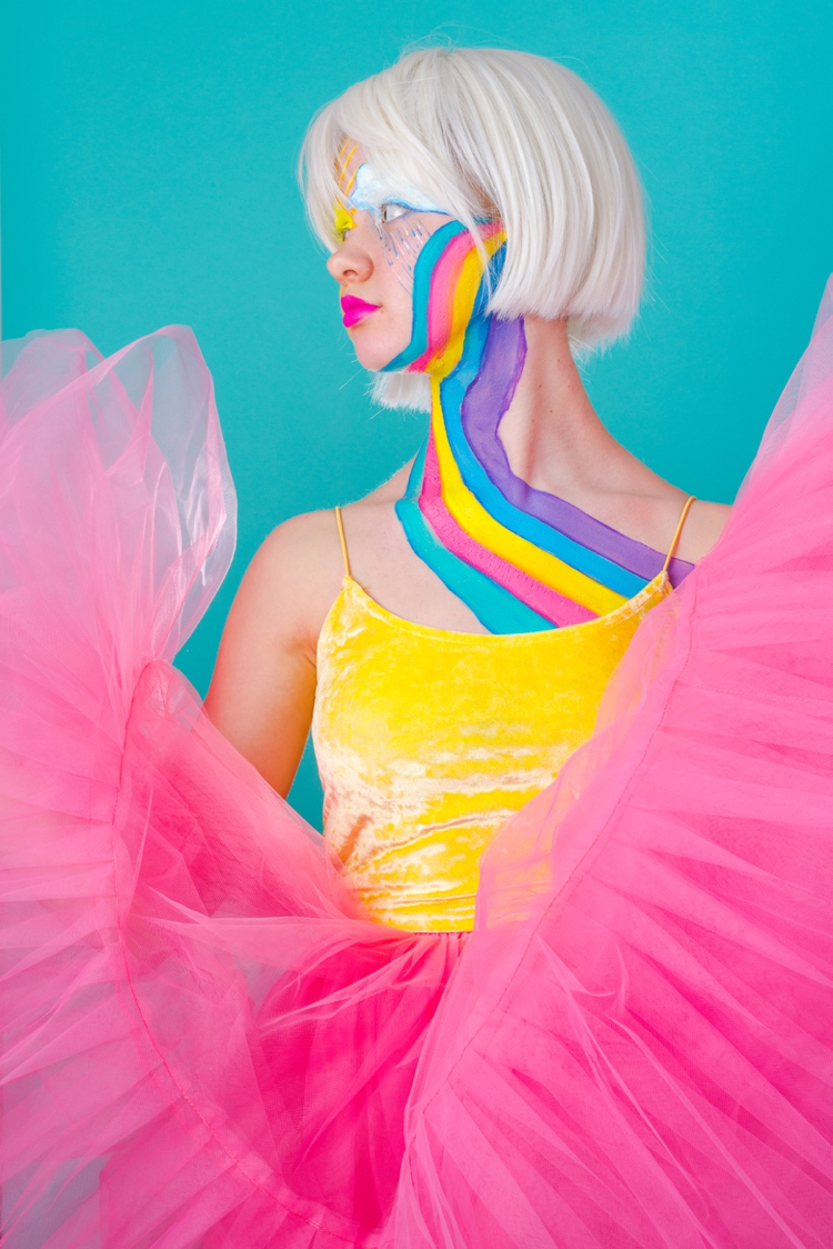 Rainbow facepainting by Colour Ahead. Photography & styling by Marianne Taylor.