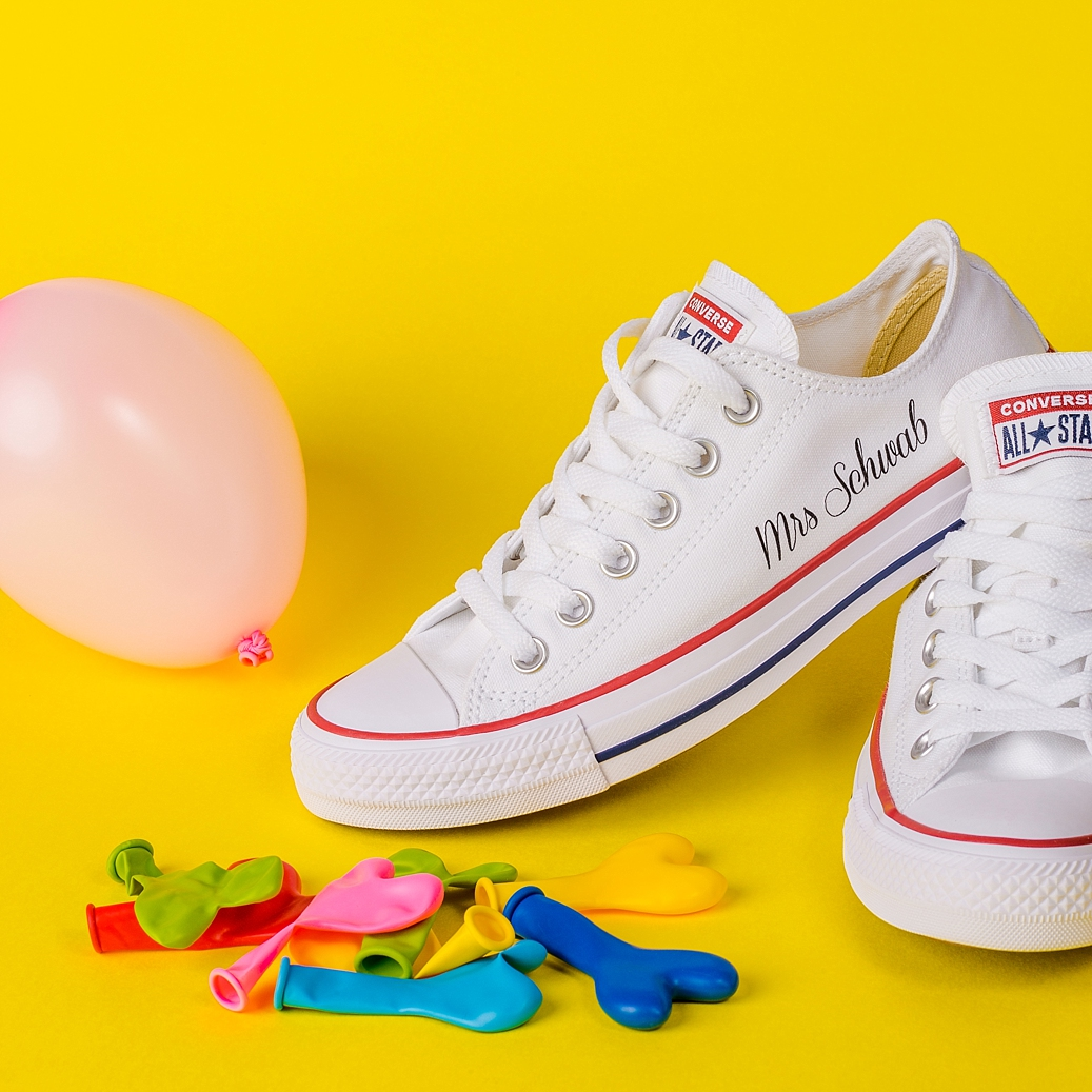 Colourful content creation for Wedding Converse. Product photography & styling by Marianne Taylor.